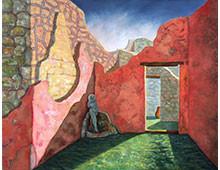 Courtyard at Pompei